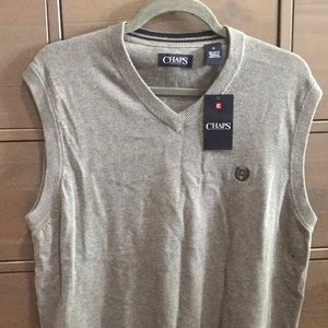 New CHAPS grey sweater vest